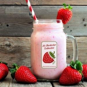 Erdbeerfest Glas